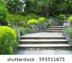 Gray Stone Steps In Botanical...