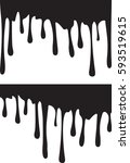 pair of black paint drips.... | Shutterstock .eps vector #593519615