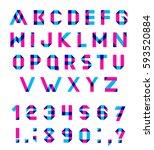 alphabet set fun geometric... | Shutterstock . vector #593520884