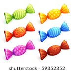 isolated colorful candies.... | Shutterstock .eps vector #59352352