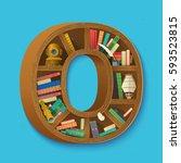 creative book print on... | Shutterstock .eps vector #593523815