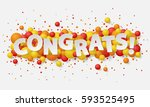 banner with paper white letters ... | Shutterstock .eps vector #593525495