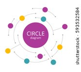 abstract infographics round... | Shutterstock .eps vector #593532584