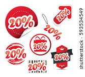 20  off. sale and discount... | Shutterstock .eps vector #593534549