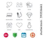 love heart  brilliant and... | Shutterstock .eps vector #593536661