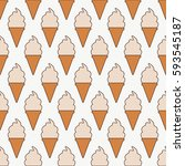 ice cream seamless pattern.... | Shutterstock .eps vector #593545187