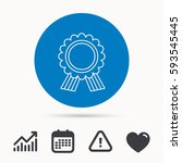 award medal icon. winner... | Shutterstock .eps vector #593545445