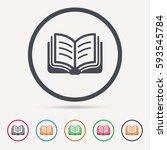 book icon. study literature...   Shutterstock .eps vector #593545784