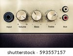 Close Up Detail Of Sound Volume ...
