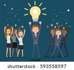 ideas for better. leader of...   Shutterstock .eps vector #593558597