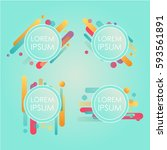 abstract retro background with... | Shutterstock .eps vector #593561891