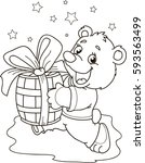 coloring page outline of... | Shutterstock .eps vector #593563499