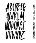 graphic font for your design.... | Shutterstock .eps vector #593563985