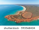 aerial view of gantheaume point ... | Shutterstock . vector #593568434