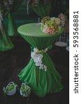 wedding table.decorated wedding ... | Shutterstock . vector #593568881