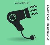 blow dry vector icon   Shutterstock .eps vector #593568995