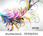 abstract floral background | Shutterstock .eps vector #59356924