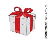 gift present design. vector... | Shutterstock .eps vector #593574971
