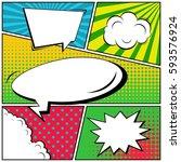 abstract creative concept... | Shutterstock .eps vector #593576924