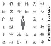 pregnant woman icon vector...   Shutterstock .eps vector #593582129