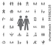 couple icon on white background....   Shutterstock .eps vector #593582135
