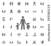 family vectro icon on white... | Shutterstock .eps vector #593583119