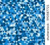 abstract seamless mosaic... | Shutterstock .eps vector #593587721