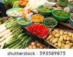 Fruit Market With Various...