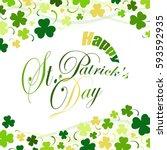 saint patricks day  festive... | Shutterstock . vector #593592935