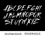 graphic font for your design.... | Shutterstock .eps vector #593594315