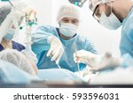 another surgery. surgery... | Shutterstock . vector #593596031