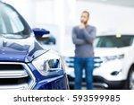 car for a man. selective shot... | Shutterstock . vector #593599985