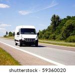 Stock photo white van 59360020