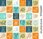 animals check pattern 2  ... | Shutterstock .eps vector #5936089
