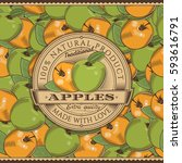 Vintage Apple Label On Seamles...
