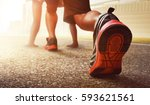 man ready to run | Shutterstock . vector #593621561