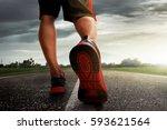 man running | Shutterstock . vector #593621564