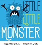 Stock vector illustration vector little monster 593621795