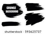 set of black paint  ink brush...   Shutterstock .eps vector #593625737