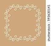 geometric frame monogram design ... | Shutterstock .eps vector #593630141