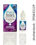 Small photo of Winneconne, WI - 5 March 2017: Thera tears eye drops on an isolated background.