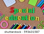 the words special education on... | Shutterstock . vector #593631587