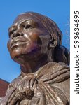 Small photo of BOSTON, MA, USA - FEBRUARY, 19, 2017: Close-up of Harriet Tubman Statue in Boston's South End neighborhood. Tubman, an African-American abolitionist will appear on the new $20 bill.