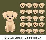 puppy cartoon emotion faces... | Shutterstock .eps vector #593638829