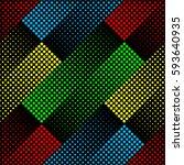 halftone seamless pattern ... | Shutterstock .eps vector #593640935