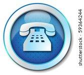 telephone icon | Shutterstock . vector #59364244