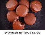 brazilian honey cookie pao de... | Shutterstock . vector #593652701