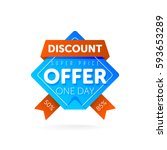 discount tag with special offer ... | Shutterstock .eps vector #593653289