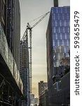 building crane | Shutterstock . vector #593655479