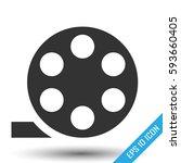 film bobbin icon. flat icon of... | Shutterstock .eps vector #593660405